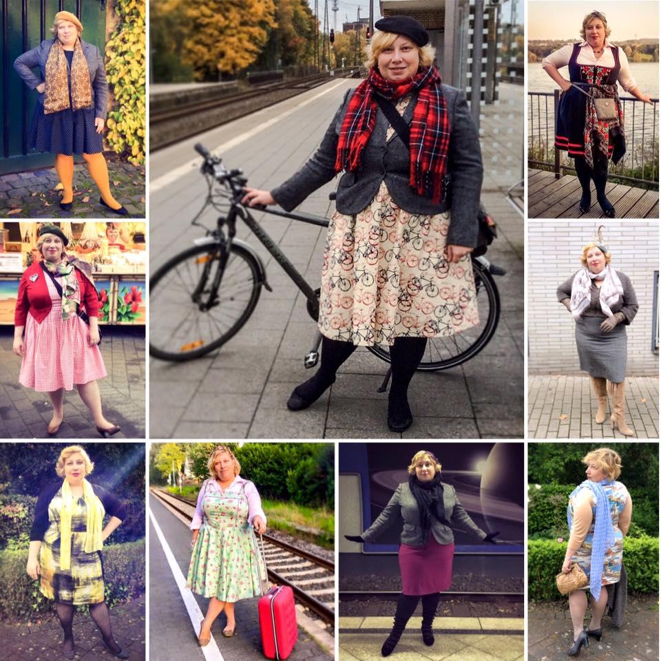 Miss Kittenheel vintage plus size style October 2015