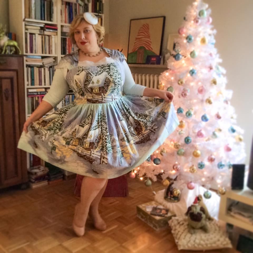 Miss Kittenheel vintage plussize style winterwonderland