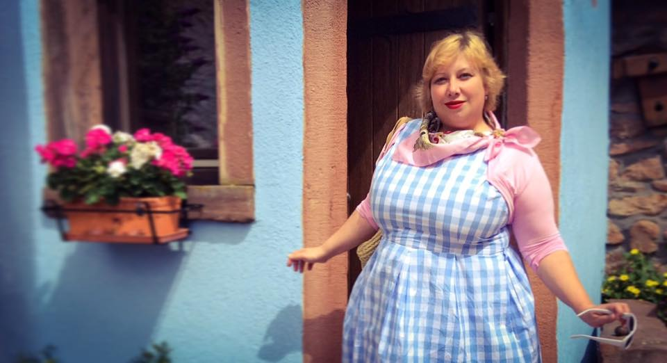 MissKittenheel Alsace Itterswiller babyblue Gingham Check Dress LindyBop Colette 04